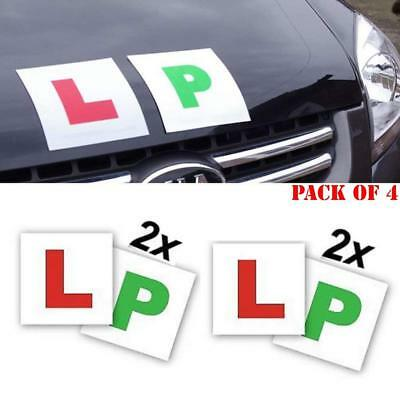 4 New Magnetic Secure Learner Driver L Plates P Plates Exterior Car Bike