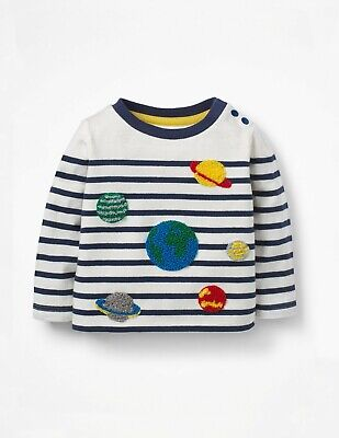 Baby Boden Breton Striped Planets Long Sleeve Tshirt Top 6-12 months to 3-4 yrs