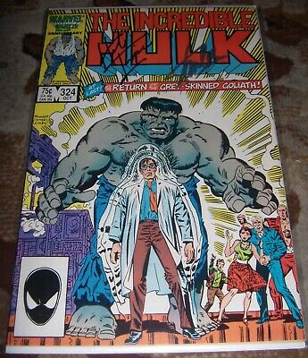 'Signed The Incredible Hulk #324 By Stan Lee And Herb Trimpe Marvel Legends Rip
