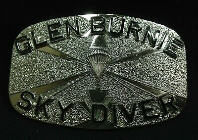 Glen Burnie, Maryland - Sky Diving Accomplishment - Belt Buckle - Free Shipping
