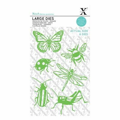 Xcut (Docrafts) Metal Die Set Card Craft Die - Large (6pcs) - Insects