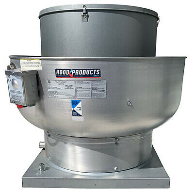 Commercial Restaurant Kitchen Exhaust Fan - 1700-2500 CFM with Speed Control