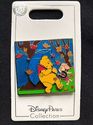 Disney Parks Pin Trading Pooh & Piglet Windy Day