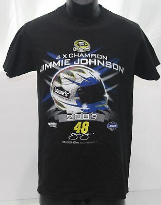 NASCAR SPRINT CUP SERIES 4X Champion 2009 Jimmie Johnson #48 T Shirt Black Small