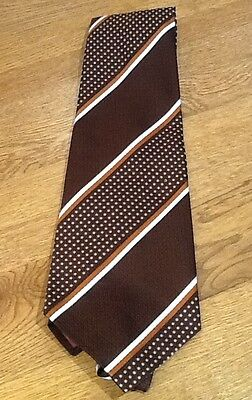 Vintage Hardy Amies Men's Tie Retro Fashion 1970s