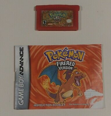 Pokemon: FireRed Version with Manual! Authentic, tested!