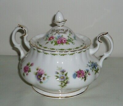 Royal Albert Flower of the Month Lidded Sugar Bowl (2nd Qual)