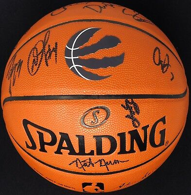 PSA/DNA 2018-19 TORONTO RAPTORS TEAM Signed Basketball KAWHI LEONARD NBA CHAMPS!