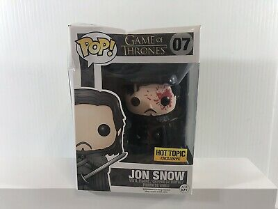 Funko Pop Game Of Thrones Jon Snow #07 Bloody Hot Topic Exclusive Brand New