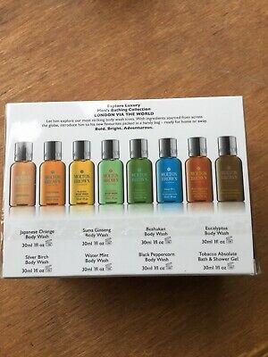 BNIB Molton Brown 8 x 30ml Bathing Travel Collection - Brand New