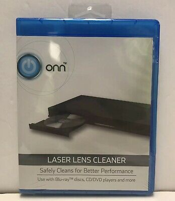 ONN Laser Lens Cleaner Disc. Blu-Ray, DVD, CD Players with Trays NEW and SEALED!