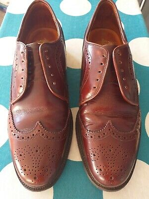 Vintage Brown Leather Grenson Shoes Footmaster Brogues size 8 D with trees