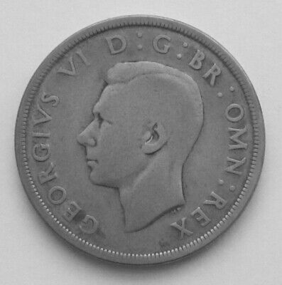 George VI 1937 Silver (.500 ) Crown in Good Condition