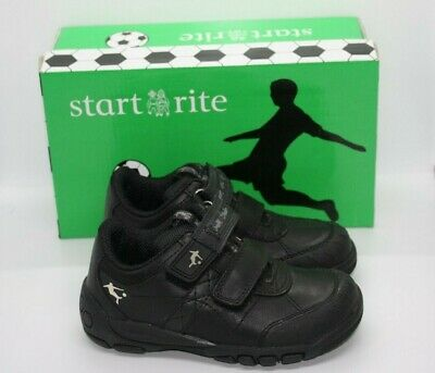 3a862ca9665ed Start-rite Boys Hat-Trick Black Leather School Shoes UK 9 G Eur 27