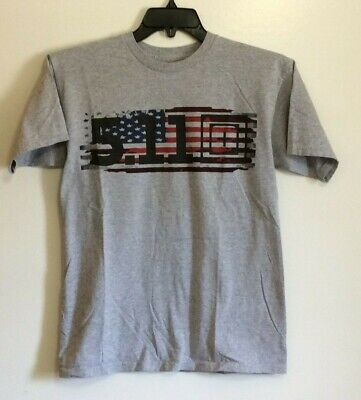 ce961ad9 5.11 Tactical Crew Neck American Flag Graphic Gray T Shirt Size Med