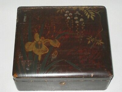 Antique Japanese Meiji Period Lacquered Box