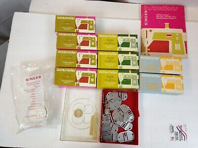 Huge Lot VTG Singer Sewing Machine Parts and Accessories MODEL: 714 6704 717