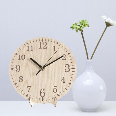 Round Wooden Clock Handmade Vintage Arabic Numerals Clock for Bedroom Study Room