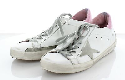fd1bb9b31 Z55 Golden Goose Superstar White/Grey/Pink Leather Sneakers Women's Sz 40 M