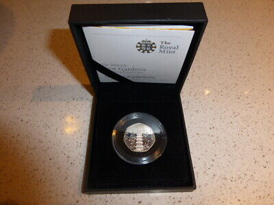 THE 2009 50p  KEW GARDENS SILVER PROOF COIN