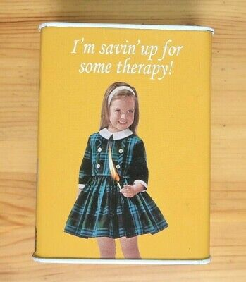 "Blue Q ""I'm Savin Up For Some Therapy"" Piggy Bank Funny Retro Jesus Had Sister"