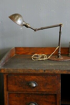 Vintage 1940s AJUSCO Industrial Articulated Work Lamp Light Drafting Table stand