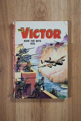 THE VICTOR BOOK FOR BOYS 1970 Hardback, Rare, Vintage war/action/adventure.