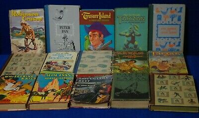 15 Antique Vintage Collectible Classic Young Adult Hardcover Books 1917 - 1966