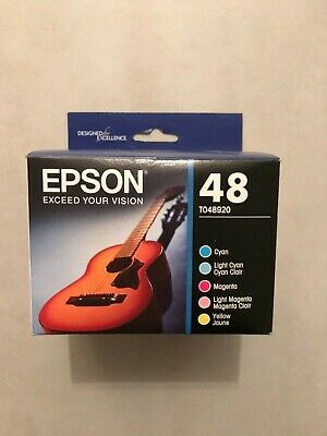 EPSON 48 (5 Color) C/M/Y/LC/LM BRAND NEW/GENUINE exp:11/2020