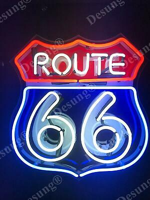 "Historic Route 66 Beer Bar Light Lamp Neon Sign 20"" With HD Vivid Printing"