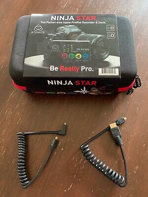 Atomos Ninja Star HDMI Video Recorder. Brand New. Atomos 64GB CFast and leads