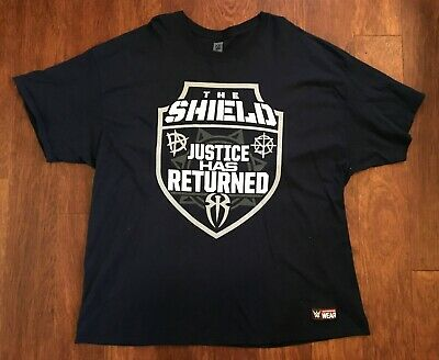 a3465faf The Shield Justice Has Returned Authentic WWE T-Shirt Adult 3X 3XL  Wrestling NXT