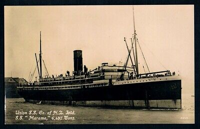 Unused Photo Postcard • c1930s • Union Steamship Co. of New Zealand • SS Marama
