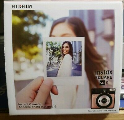 BRAND NEW Fujifilm instax SQUARE SQ6 Instant Camera (Blush Gold) 0074101038095