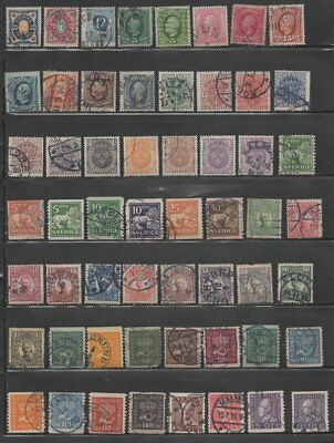 Sweden  Early Stamp Collection - 100 Different Stamps (Lot Sweden 5)