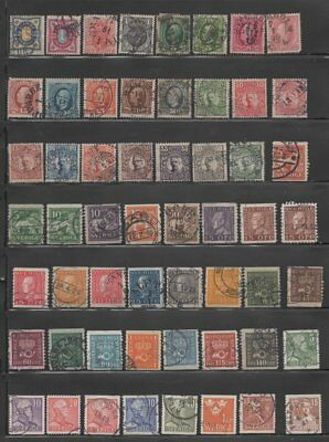 Sweden  Early Stamp Collection - 100 Different Stamps (Lot Sweden 6)