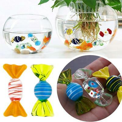 20pcs Vintage Murano Style Glass Sweets Candy Ornament For Party Festival Decor