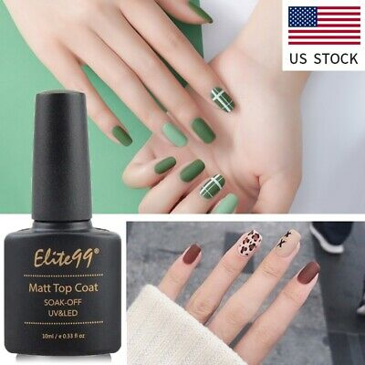 Elite99 Matte Top Coat For Gel Nail Polish 10ml Soak Off