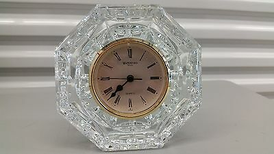 ~Waterford Crystal Large Octagon Clock~Signed~Ireland