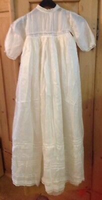 Vintage Lined Cream Christening Dress