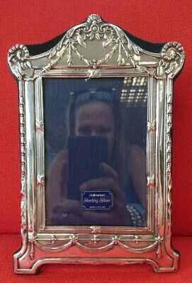 "Vintage Sterling Silver Derby Rams Photo ~  Picture Frame Hallmark London 9"" !!!"