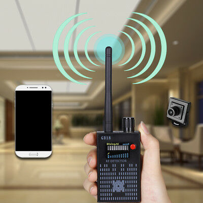 1x Professional G318 1Mhz-8000Mhz Wireless RF Signal Detector Tap Detect Mobile