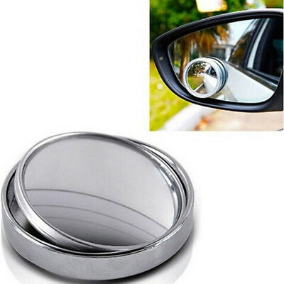 1PC Silver car blind spot mirror 360° angle view adjustable rearview mirrorPDH