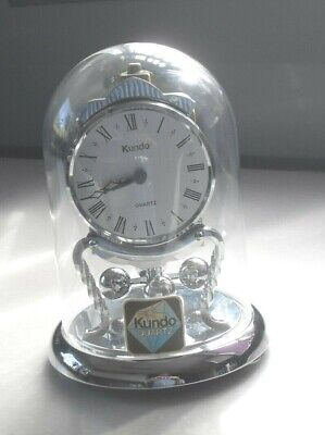 Vintage Kundo Germany Quartz Anniversary 400 Day Mantel Clock With Dome