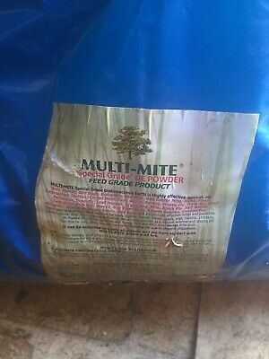 MULTI MITE® 5KG DIATOMACEOUS EARTH Red Mite, Worming, Fleas DE Feed Supplement
