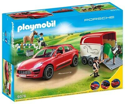 Playmobil Porsche Macan GTS with Horse Trailer and Retractable Winch [Toy]