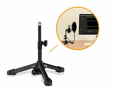 Pied de Table Bureau Support de Microphone Mic Support Desktop Ajustable