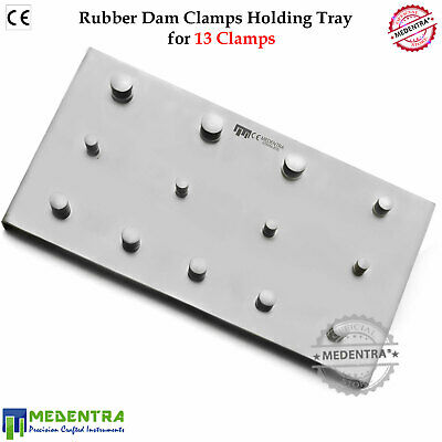 Rubber Dam Clamp Holding Sainless Steel Plate for 13 Dental Clamps Restorative