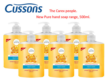 Cussons Pure Cleansing Antibacterial Hand Wash Soap - Fruit Chew- 12 x 500ml