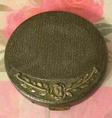 VINTAGE LADIES Compact Case  - With Old Powder Puff